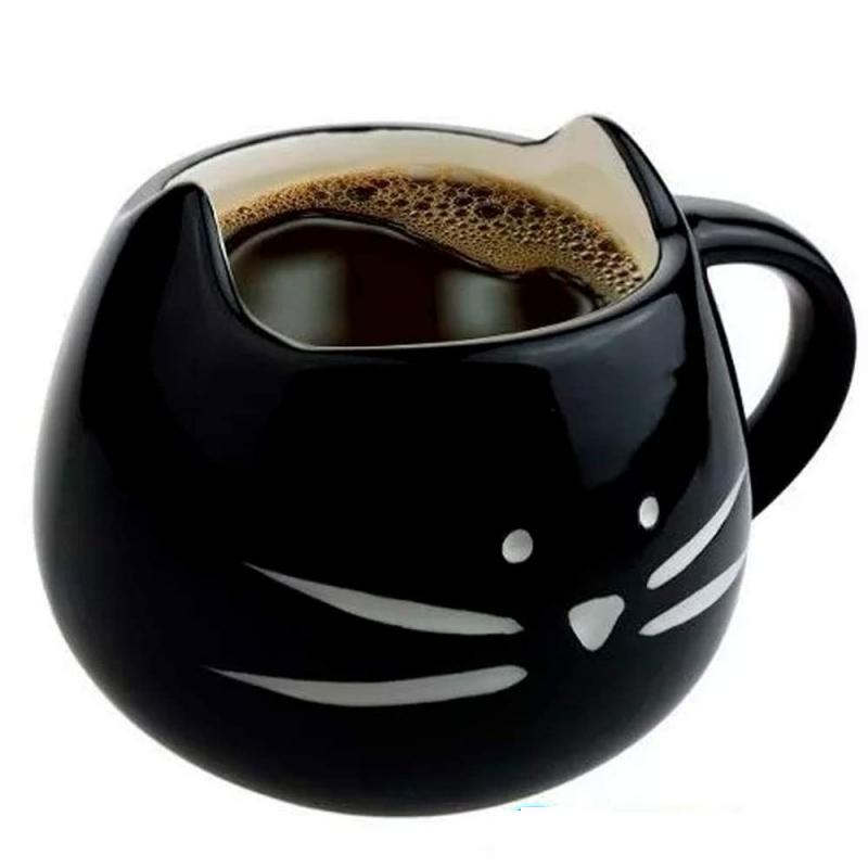 Taza con Cara de Gato Gatito