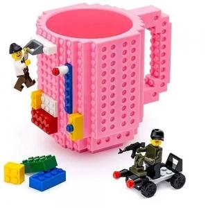 Taza estilo Lego Para Construir Figuras