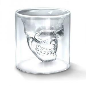 Vaso de Cristal Fondo de Calavera