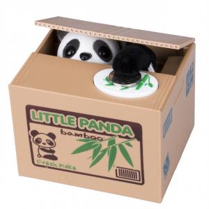 Alcancía Roba Monedas Panda Travieso