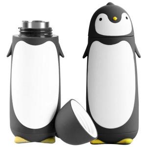 Termo en Forma de Pingüino Blanco con Negro 300ml