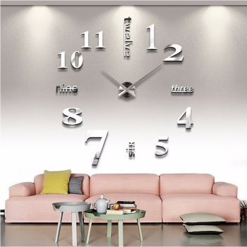 Reloj Gigante De Pared 3d Moda Grande De Cuarzo Y Acrilico