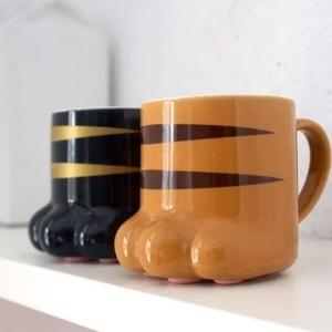 Taza de Céramica Huella de Gato Gatito