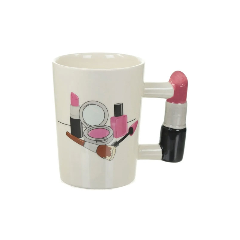 Taza de Céramica en Forma de Labial Make Up