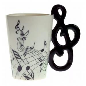 Taza de Céramica en Forma de Clave de Sol Nota Musical