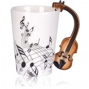 Taza de Céramica en Forma de Violin