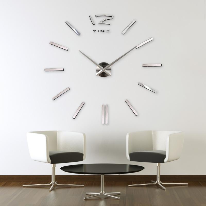 Reloj Minimalista de Pared Gigante 3D DIY