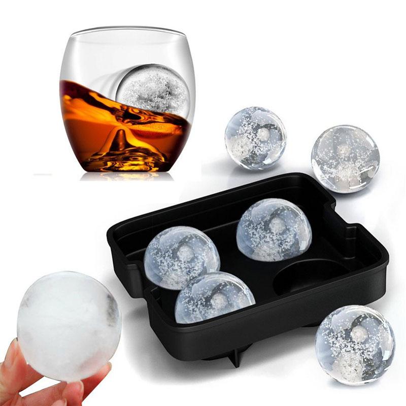 Molde para hielos en forma de 4 esferas