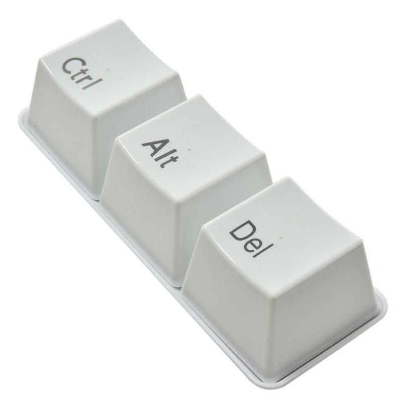 Tazas en Forma de Teclas Ctrl + Alt + Del